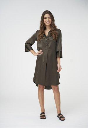 KAMILLE - Shirt dress - dark olive