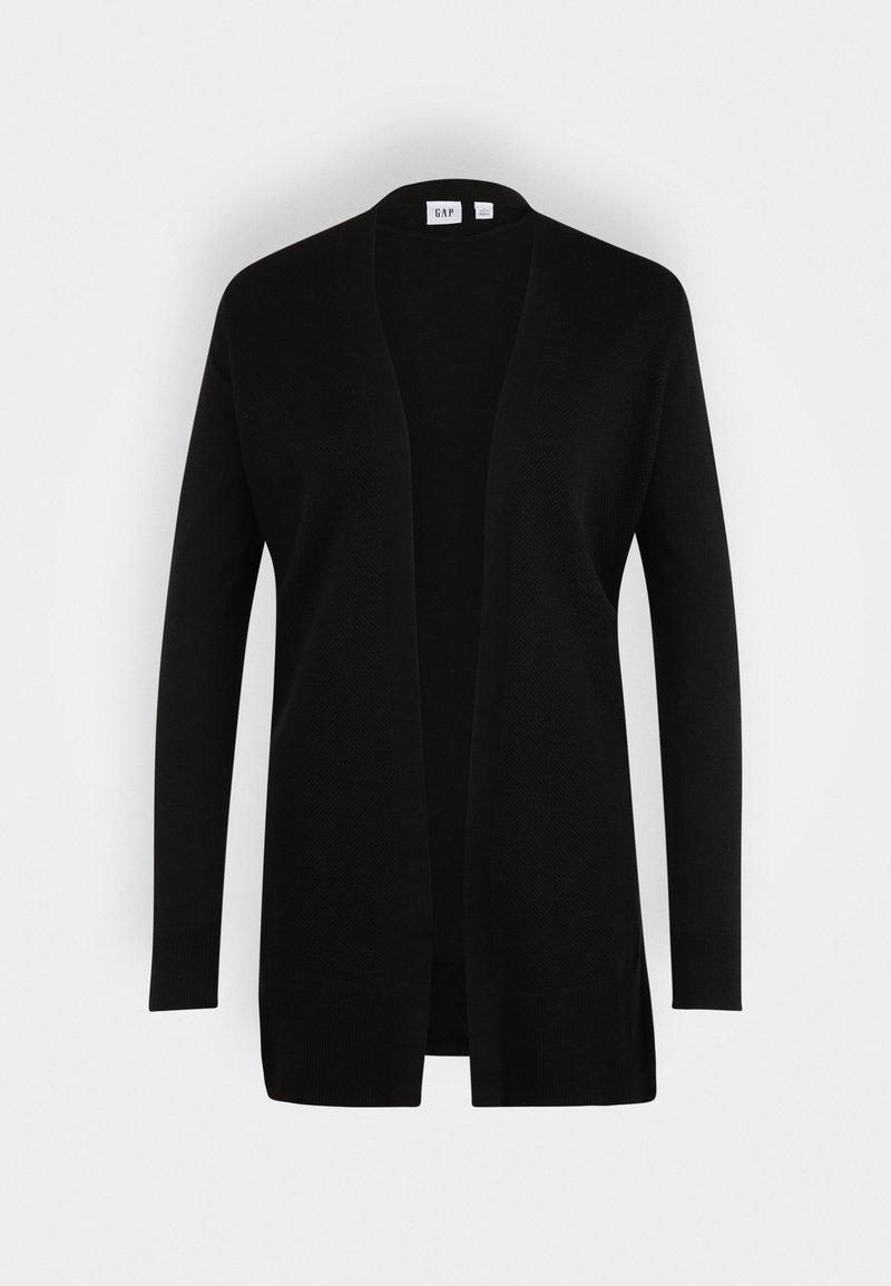 GAP Petite - BELLA OPEN THIRD - Zip-up sweatshirt - true black