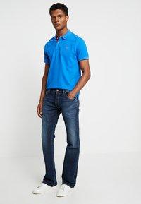 GANT - CONTRAST COLLAR RUGGER - Polo shirt - lake blue - 1