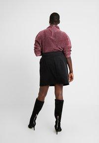 Glamorous Curve - RING PULL SKIRT - Mini skirt - black - 2