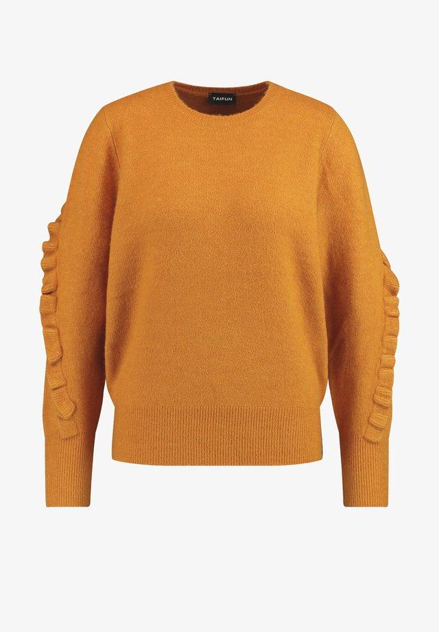 MIT RÜSCHEN - Jumper - golden amber