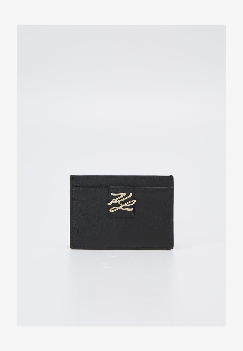 KARL LAGERFELD - AUTOGRAPH FOLD - Peněženka - black/gold-coloured