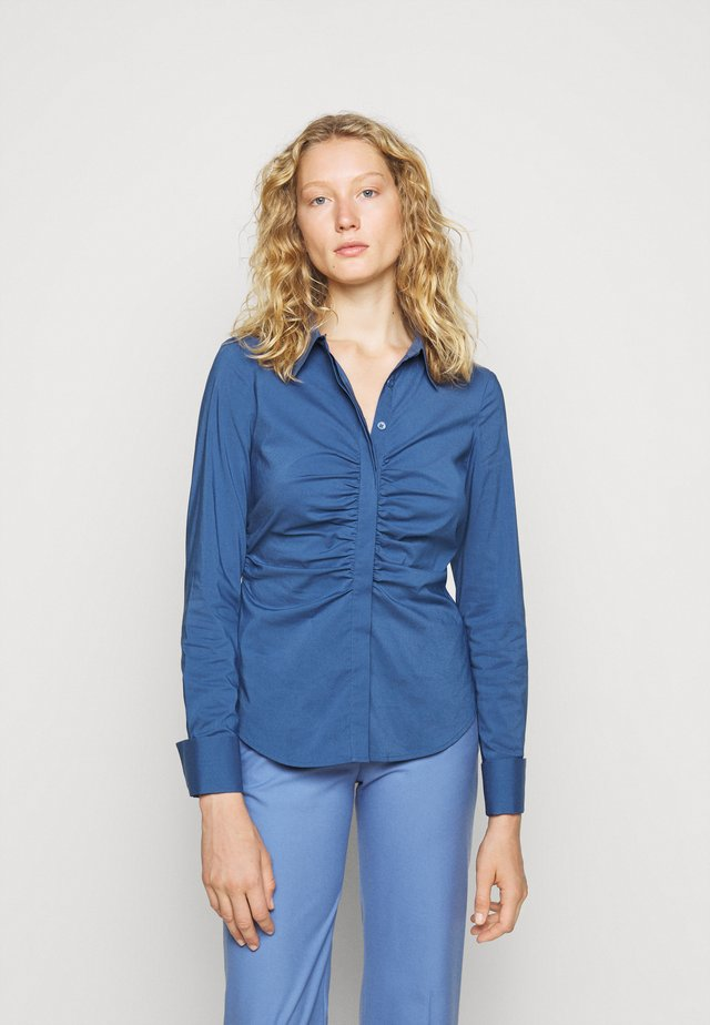 CLEMANDE PLEATED BLOUSE - Paitapusero - smoky blue