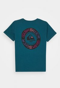 Quiksilver - TIME CIRCLE YOUTH - Print T-shirt - blue coral - 1