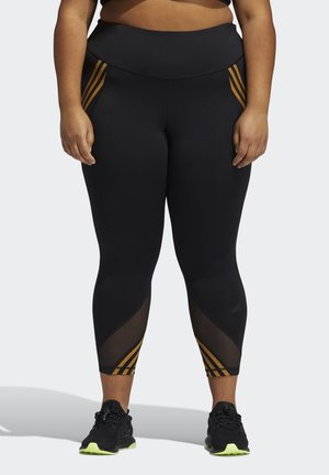 IVY PARK 3-STRIPES TIGHTS (PLUS SIZE) - Leggings - Trousers - black
