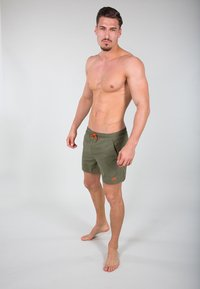 Alpha Industries - Swimming shorts - dark olive - 1
