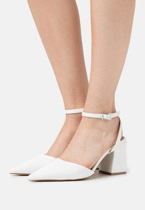 ANKLE STRAP  - Decolleté - white