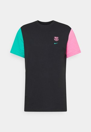 FC BARCELONA TEE TRAVEL - Club wear - black/new green/lotus pink