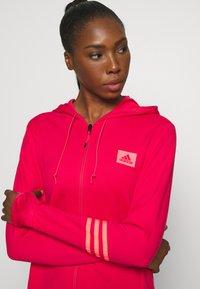 adidas Performance - Zip-up hoodie - power pink/signal pink - 6