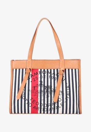Handbag - naturale-righe blu-rosso-st.nera