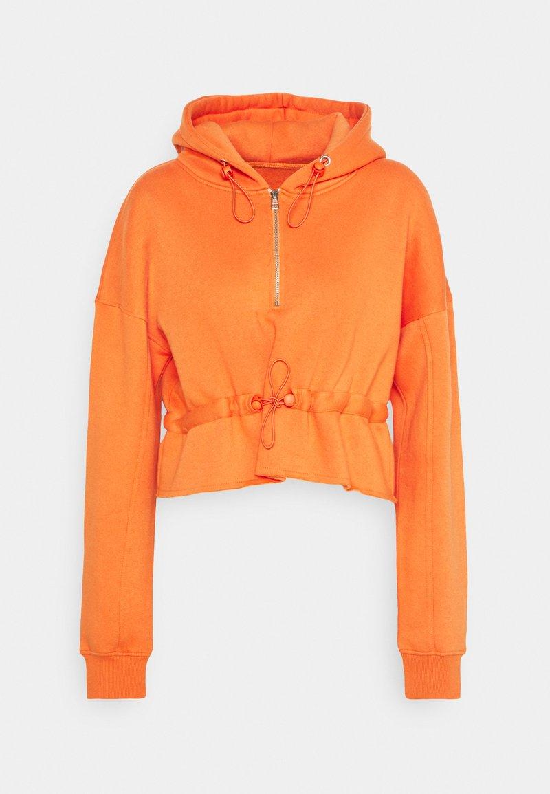 Missguided - RUCHED DETAIL HOODY - Hoodie - orange
