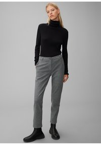 Marc O'Polo - MIT FISCHGRAT-MUSTER - Trousers - multi/black - 1