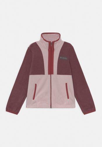 BACK BOWL™FULL ZIP UNISEX - Fleece jacket - malbec/mineral pink