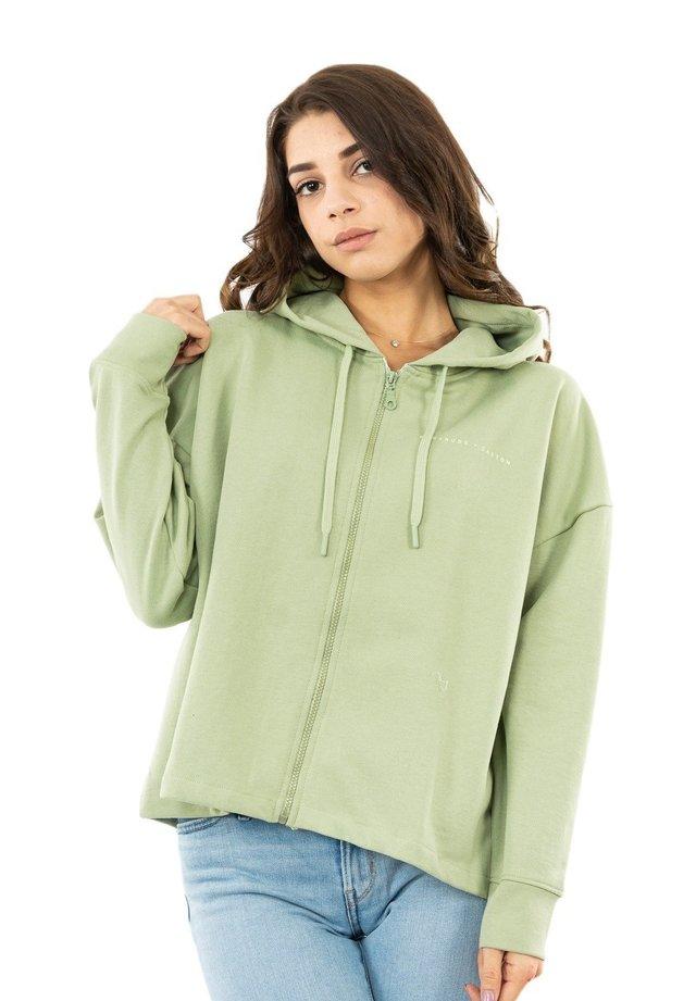 GINETTE - veste en sweat zippée - vert