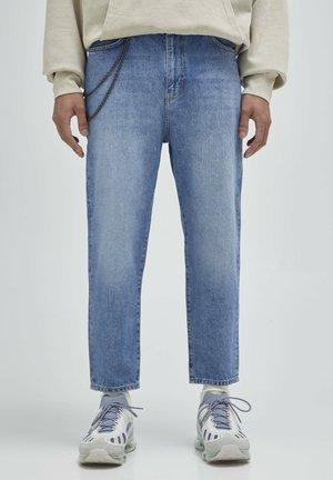 Džíny Straight Fit - mottled dark blue