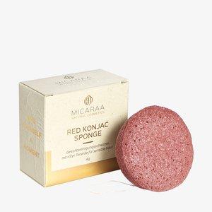 KONJAC FACE CLEANSING SPONGE - Makeup sponges & blenders - red