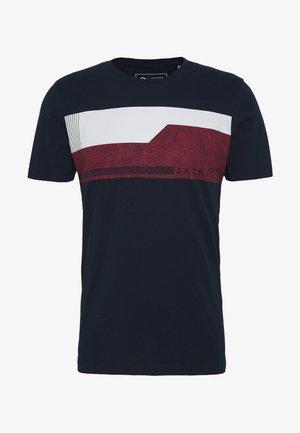 JCOMONACO TEE CREW NECK - T-shirt imprimé - mottled dark blue