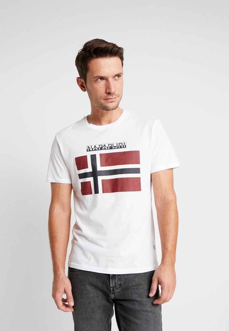 Napapijri - SAXY  - T-shirt med print - bright white
