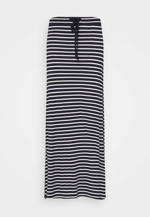 VIDINA SKIRT - Maxi skirt - navy blazer/white