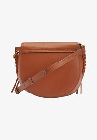 Next - TAN LEATHER STITCH AND EMBOSSED DETAIL SADDLE BAG - Torba na ramię - beige - 1