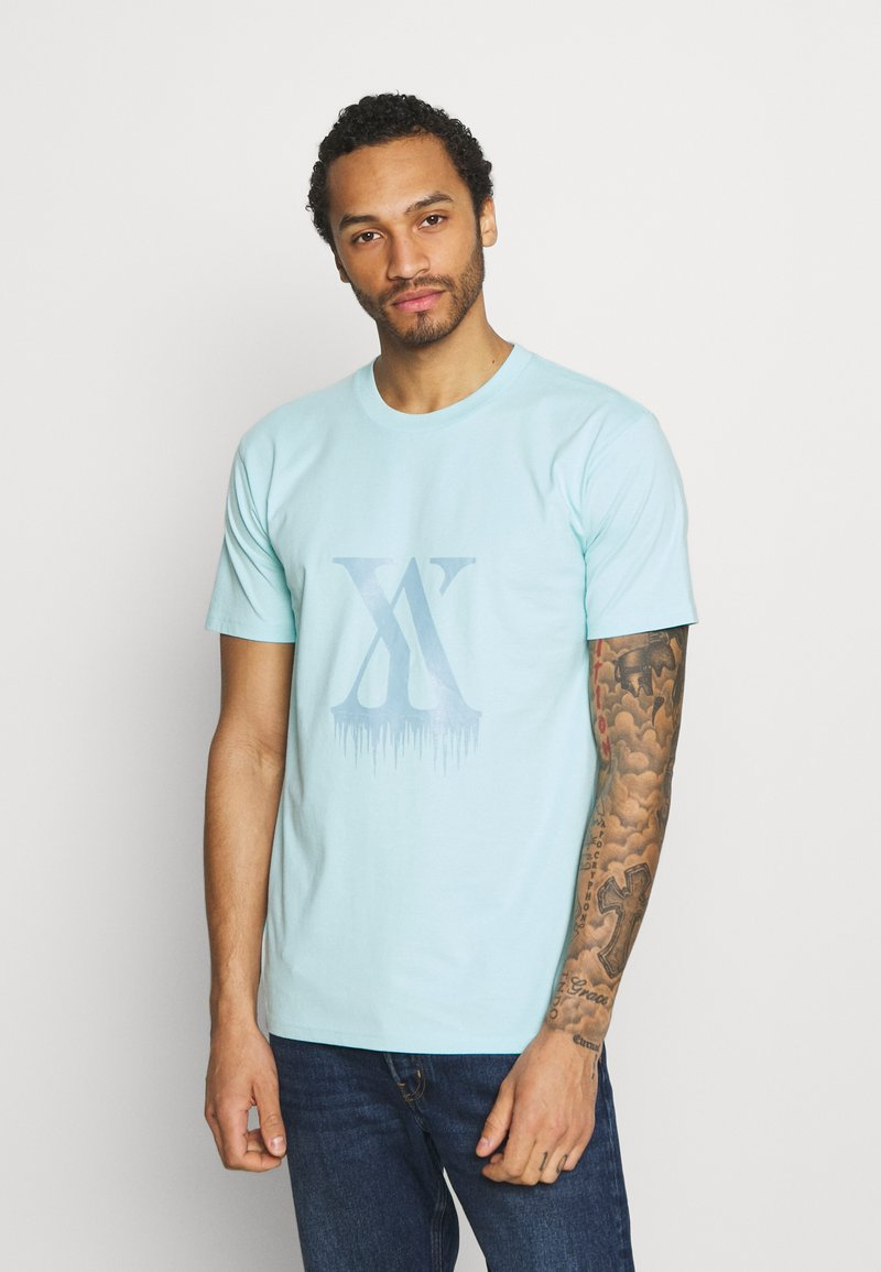YAVI ARCHIE - ICICLE LOGO - T-shirt imprimé - blue