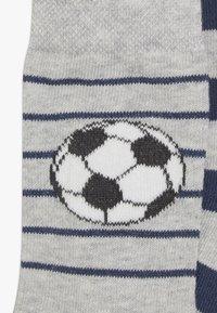 Ewers - FUSSBALL RINGEL 6 PACK  - Ponožky - schwarz/tinte - 3