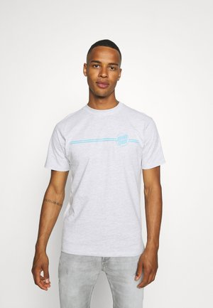 OPUS DOT STRIPE UNISEX - T-shirt imprimé - athletic heather
