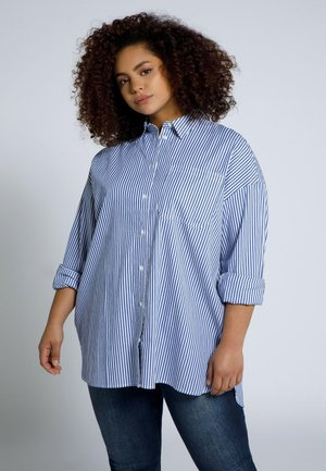 PLUS SIZES, OVERSIZED - Button-down blouse - bleu marine