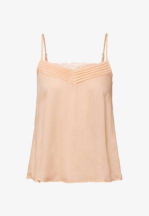 WITH V-NECK. PLAIN AT - Pyjama top - rose