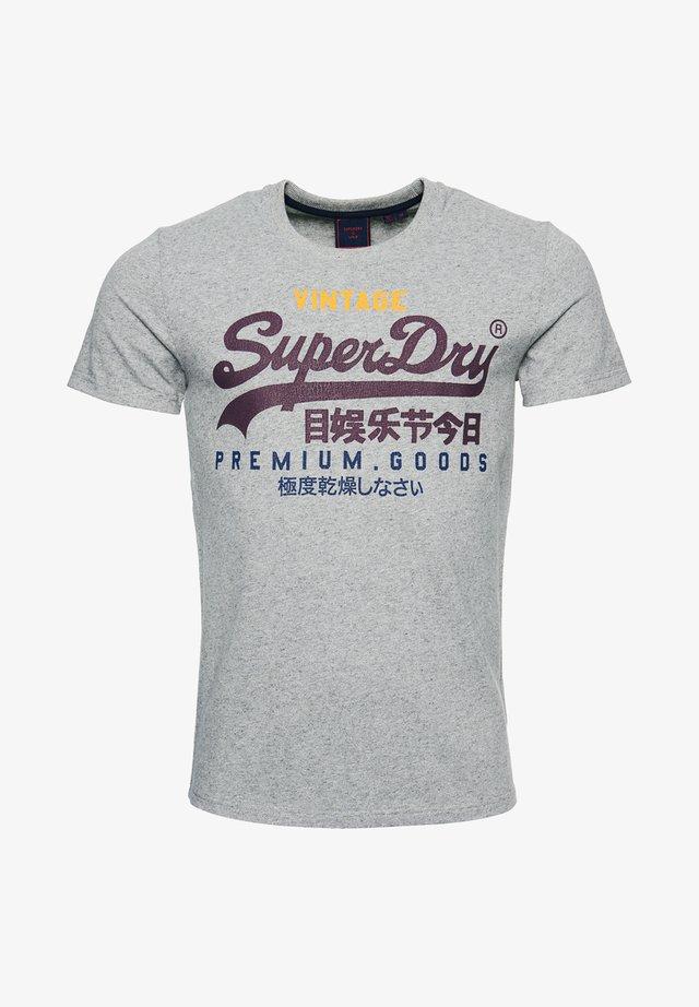 Print T-shirt - silver glass feeder