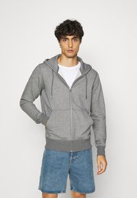 GANT - THE ORIGINAL FULL ZIP HOODIE - Zip-up hoodie - dark grey - 0