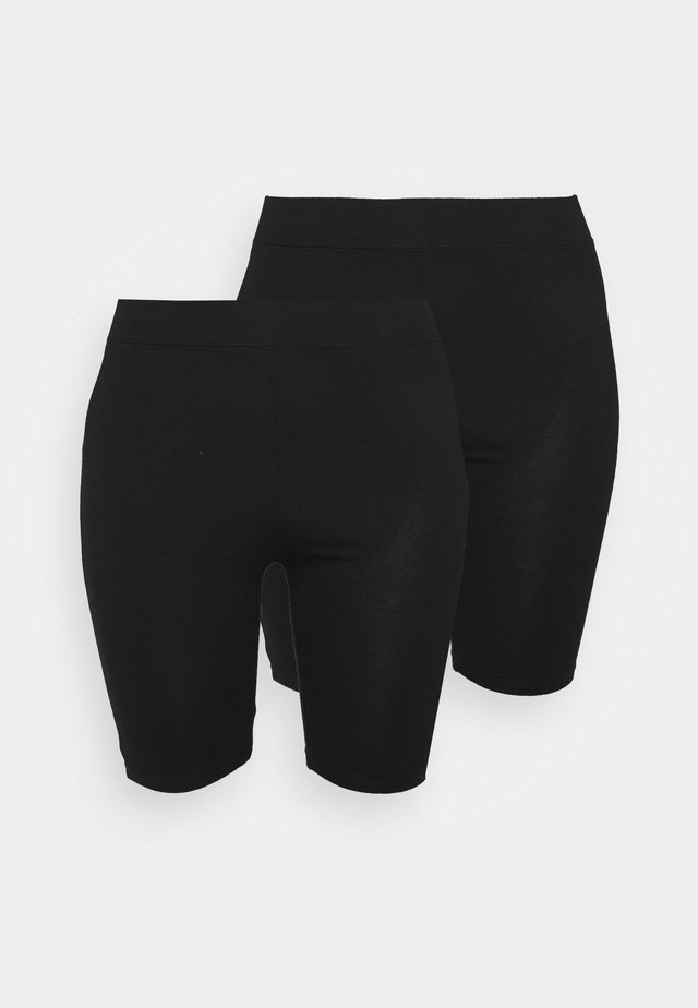 CYCLING 2 PACK - Shorts - black