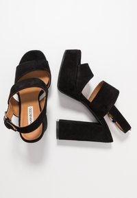 Even&Odd - LEATHER - Højhælede sandaletter / Højhælede sandaler - black - 3