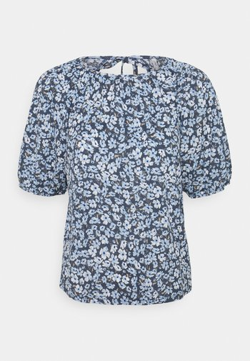 ONLPELLA OPEN BACK - T-shirt con stampa - vintage indigo