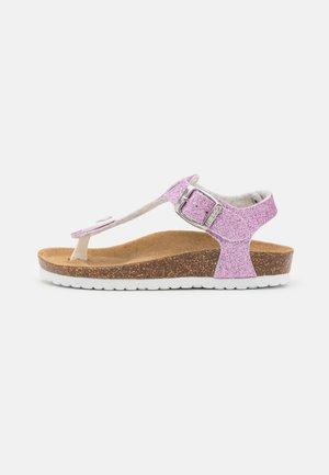 T-bar sandals - purple