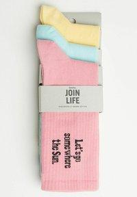 Bershka - 3 PACK - Ponožky - yellow - 4