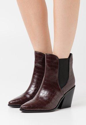 WIDE FIT AVENS - Kotníkové boty - burgundy