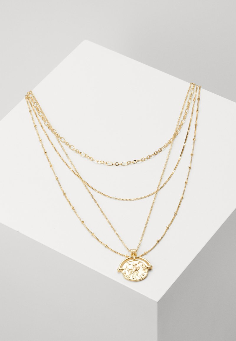Pieces - PCMISSIMA COMBI NECKLACE - Necklace - gold-coloured