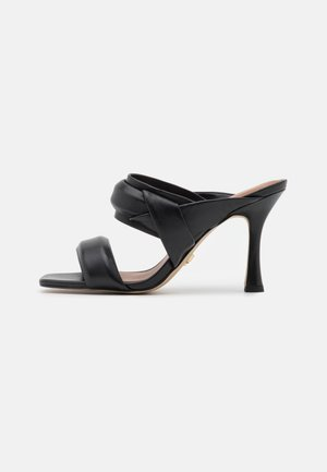 BRANDY - Heeled mules - black
