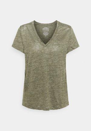 CEYLAN WOMAN - Basic T-shirt - charcoal khaki