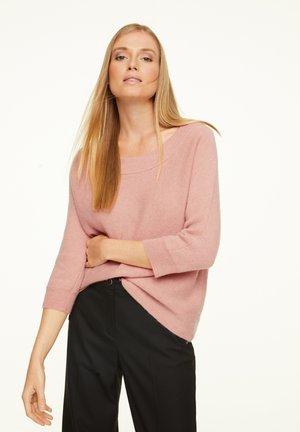 MIT 3/4-ÄRMEL - Jumper - rose knit melange