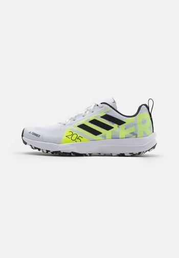 TERREX SPEED FLOW  - Løpesko for mark - footwear white/core black/solar yellow
