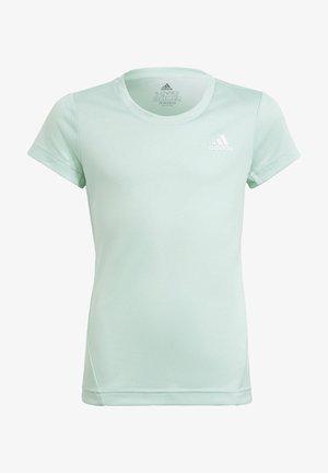 AEROREADY 3-STRIPES T-SHIRT - Print T-shirt - turquoise