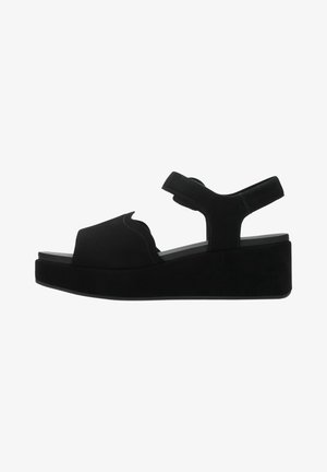 KIMMEI WAY - Sandalen met sleehak - black suede