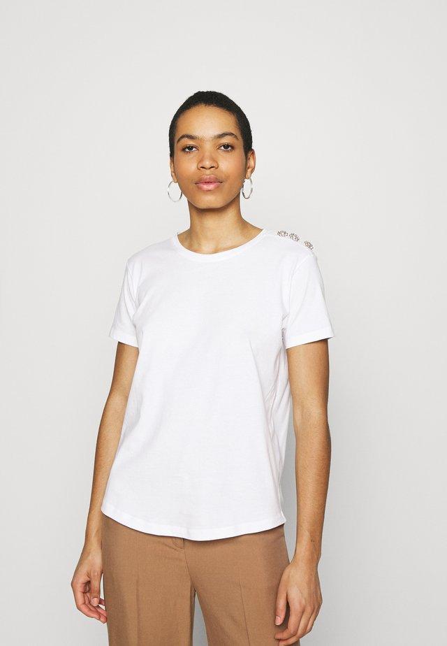 CRYSTAL - T-shirt basic - bright white