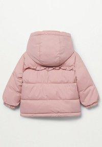 Mango - GEWATTEER MET IMITATIEBONT - Winter coat - roze - 1