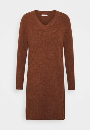 PCELLEN V NECK DRESS - Jumper dress - mocha bisque