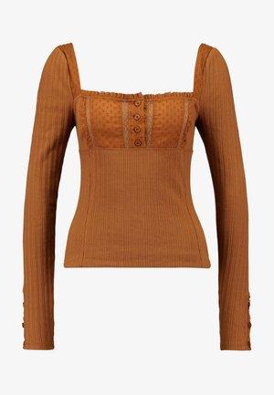 SUGAR SUGAR - Long sleeved top - brown