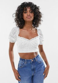 Bershka - WITH BOW  - Blouse - off white - 0