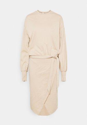 CHUNKY TIE DRESS - Day dress - beige